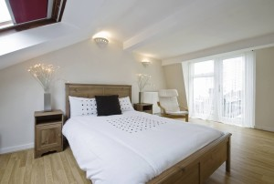 Sophisticated loft conversions into bedroom