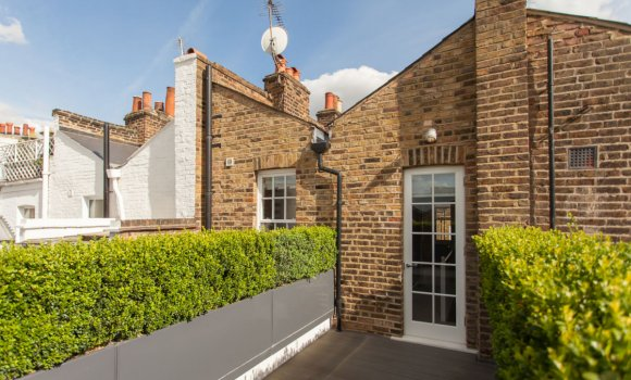 Brick house with roof terrace